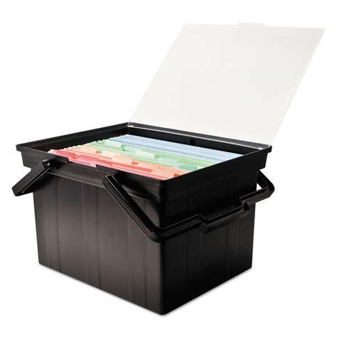 Portable Storage Box companion portable file storage box by advantus avttlf2b