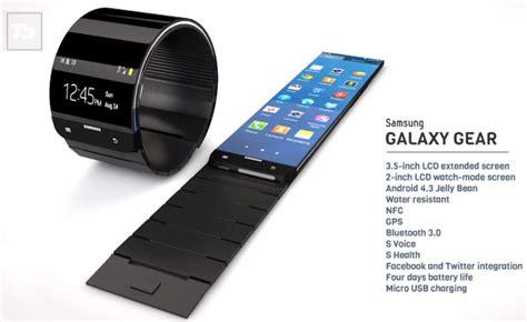 samsung galaxy gear smartwatch weather update android galaxy gear smartwatch concept met flexibel scherm