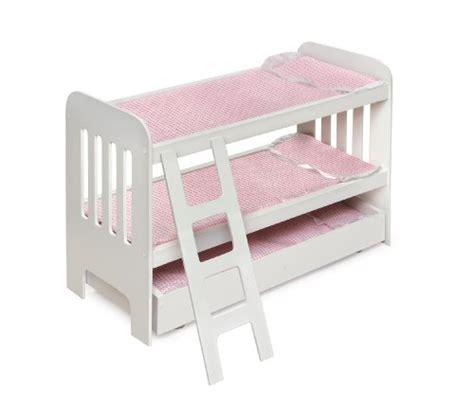 Badger Basket Doll Bunk Beds With Ladder Badger Basket Trundle Doll Bunk Beds With Ladder Fits American Dolls American Christian