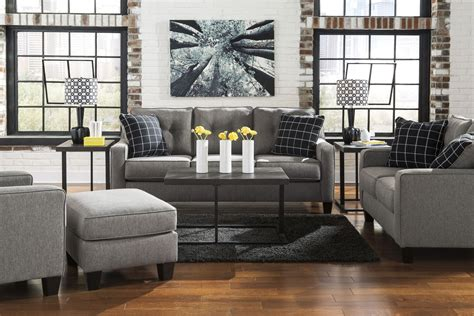 Brindon Charcoal Living Room Set From Ashley 5390138 Charcoal Living Room Furniture