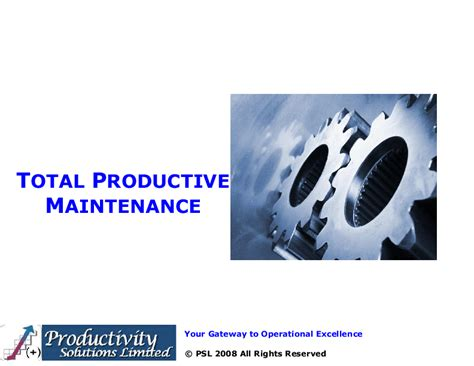 total productive maintenance tpm powerpoint