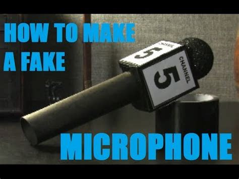 How To Make Paper Microphone - how to build a prop microphone
