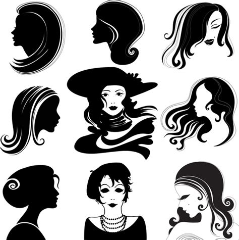 haircut graphic designs women hairstyles avatar vector free vector in encapsulated