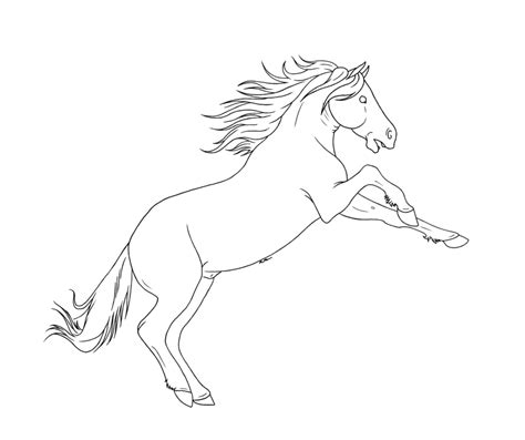 Mustang Horse Outline Coloring Coloring Pages