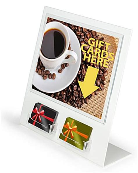 Gift Card Display Holders - gift card display 2 gift card slots