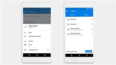 offline for android mobile dropbox mobile offline folders launched for android users