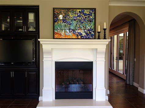 Kitchen Backsplash Mural by Fireplace Mantle Tile Mural Vincent Van Gogh Tile Mural