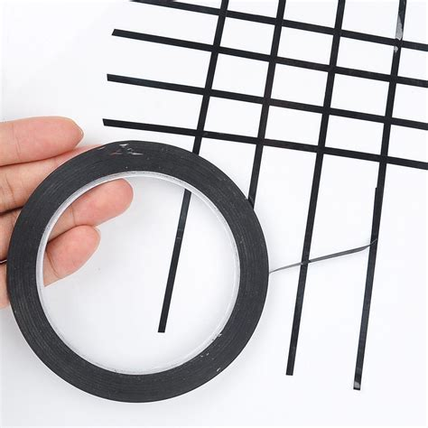 Non Marking Adhesive black 3mm self adhesive whiteboard grid gridding marking
