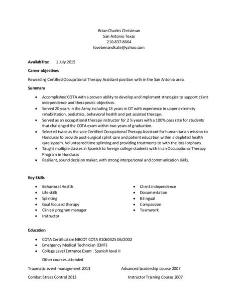 Example Objectives In Resume by Cota Resume