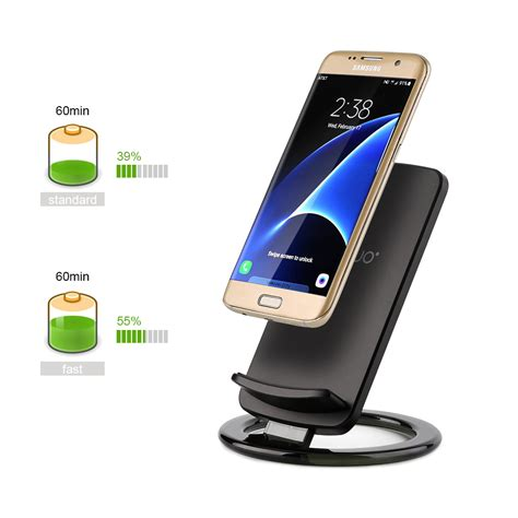 fast qi wireless charger charging pad stand dock f