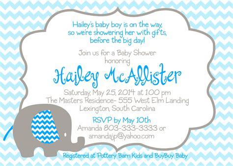 Blue Elephant Baby Shower by Baby Shower Blue Elephant Invitation Design Graphics