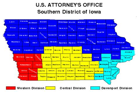 Northern District Of Search Southern District Of Iowa Map Usao Ndia Department Of