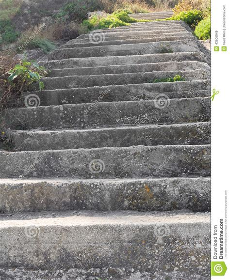 Rebuild Concrete Steps Leading To concrete steps on a hill side stock photo image 43606049