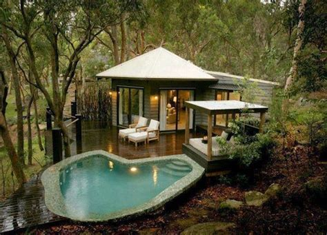 tiny luxury homes luxury tiny living in poolside tiny cabin