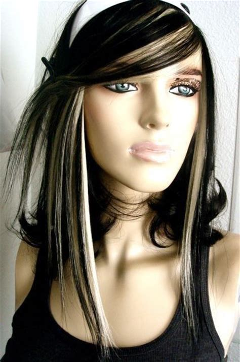 pictures of black hair with platinum highlights 14 wonderful brunette hairstyles with blonde highlights