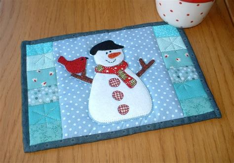 snowman rugs snowman mug rug by the patchsmith quilting pattern