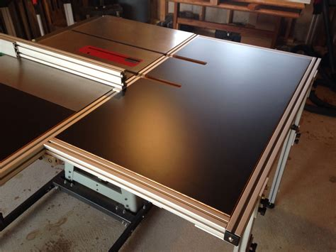 table saw outfeed table ideas table saw folding outfeed table woodworking