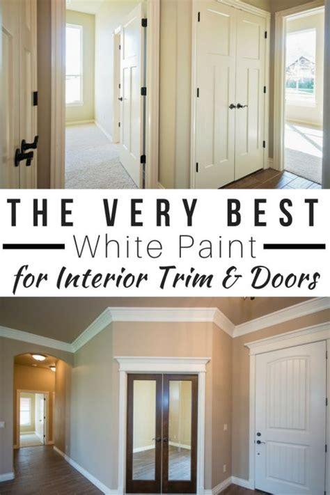 white paint  interior trim  doors
