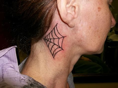 spider web tattoo behind ear spider web tattoo behind the ear design tattoo designs