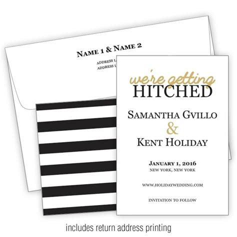 wedding invitation with printed envelopes flat 5x7 a7