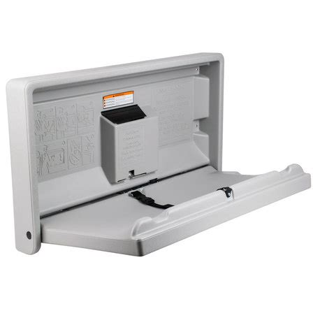 Baby Changing Station Wall Mounted - gamco horizontal baby changing station wall mounted baby