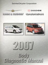on board diagnostic system 2007 chrysler town country user handbook 2007 chrysler town country dodge caravan body diagnostic procedures