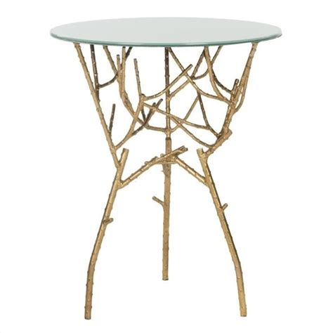 iron accent table safavieh tara iron and glass accent table in gold and