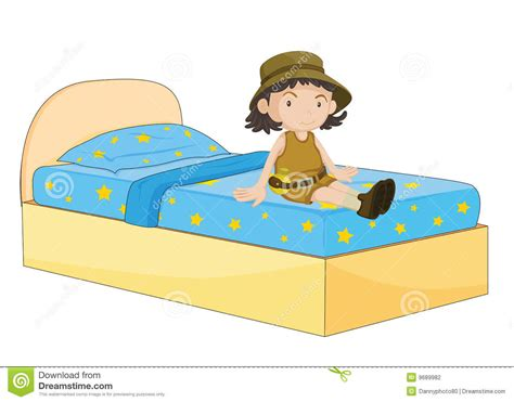 girl sitting on bed girl sitting on bed stock photography image 9689982