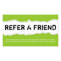 refer a friend business cards 442 refer a friend business cards and refer a friend business card templates zazzle