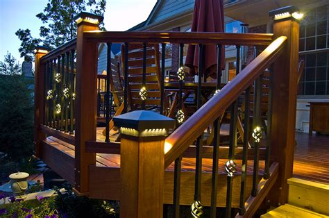 Outdoor Deck Post Lighting Lively Functional And Decorative Outdoor Deck Lighting Systems Lastnightapp