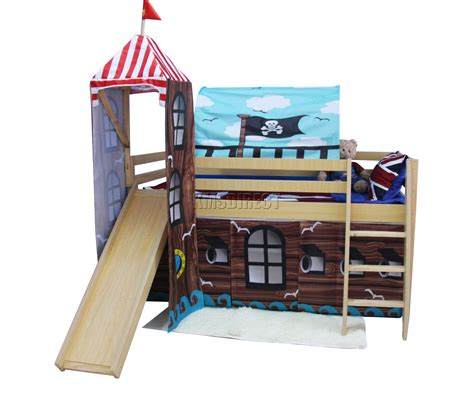 Mid Sleeper Bunk Bed Foxhunter Wood Mid Sleeper Cabin Bunk Bed Tent Slide Cabin Bed Tent Pack Fbcbelle Chasse