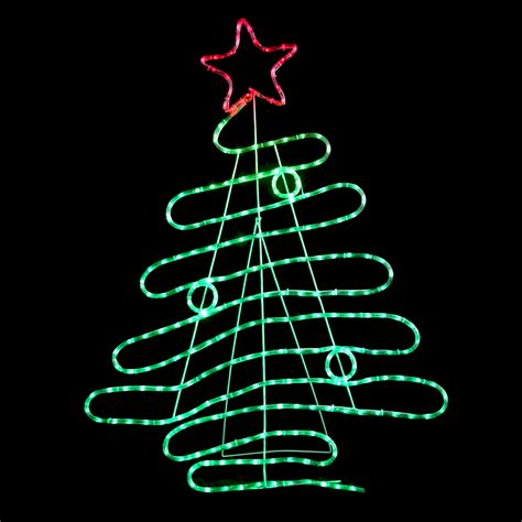 120cm red green led rope light christmas xmas tree