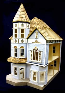 majestic mansions victorian dunwoody dollhouse kit  scale