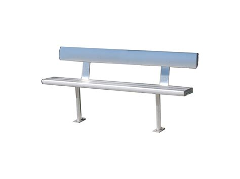 aluminium bench seating plain bench seats with backrest bab aluminium