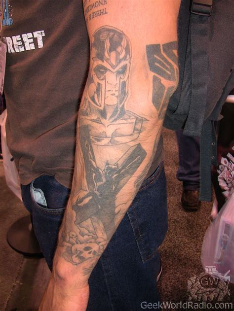 magneto tattoo world wondercon 2012 photos tattoos of wondercon