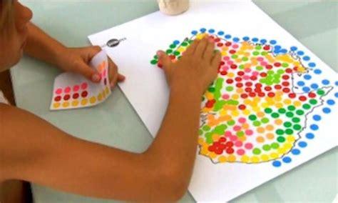 Bastelaktionen Mit Kindern by Sticky Dot Map Of Australia Craft Kidspot