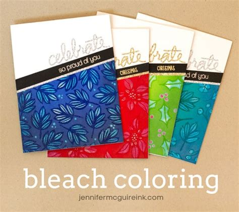 by jennifer mcguire ink video coloring with bleach blog hop giveaway