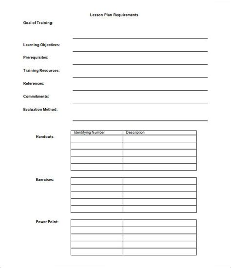 outline of a lesson plan template 9 lesson plan outline templates doc pdf free