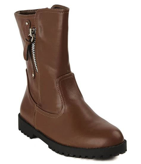 flat n heels brown boots price in india buy flat n heels