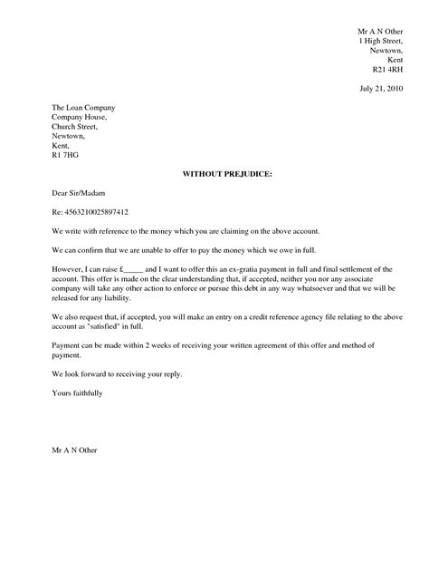 and settlement offer letter template best photos of settled in letter sle settlement