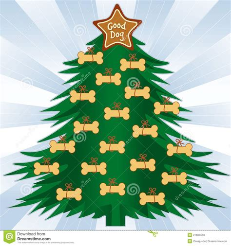 dog bone christmas tree stock vector image of gift