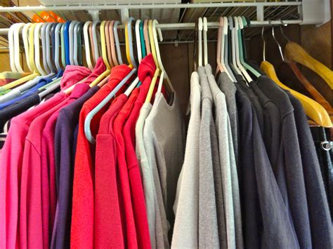 Hangers In Closet by Clothing Editing Organizing Decluttering In