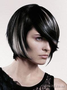 modern black hairstyles with a streak of grey grey gray streaks transition bobbed hair love the style