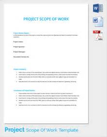 scope of work template scope of work 22 dowload free documents in pdf word excel
