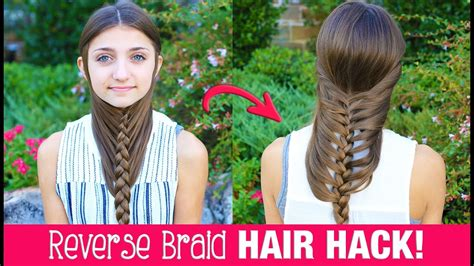 cute girls hairstyles for your crush hair hack diy reverse braid in under 2 minutes life