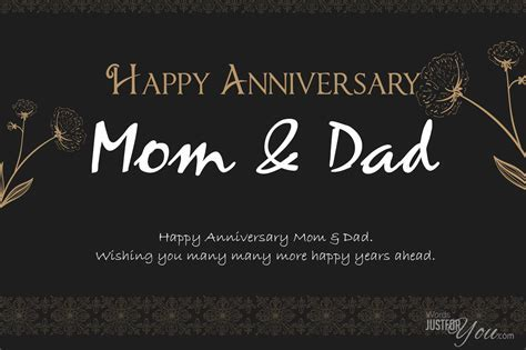 Happy Anniversary Mom & Dad   Words Just for You!   Free