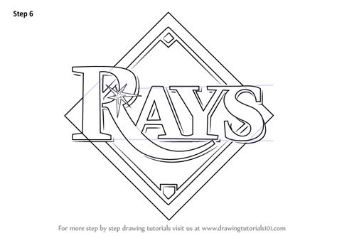 how to a bay learn how to draw ta bay rays logo mlb step by step drawing tutorials