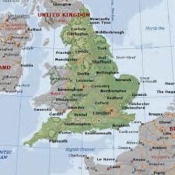 England On A Map by Gallery For Gt Physical Map Of England
