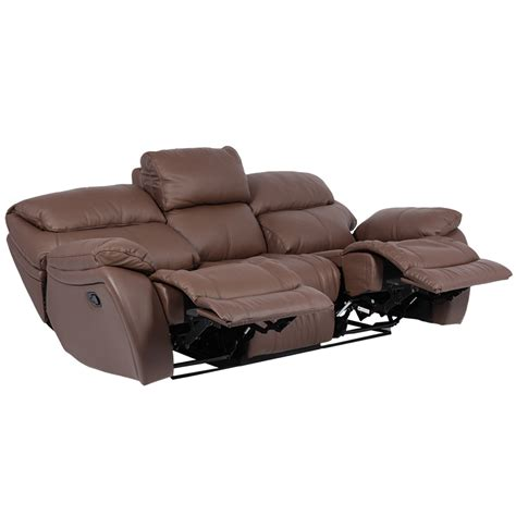 Leather Recliner Sofa 3 Seater Sandra Brown Price 1380 3 Seater Brown Leather Recliner Sofa