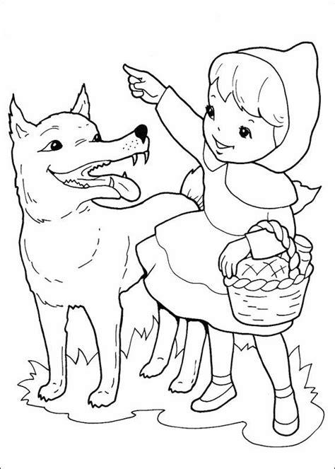 grimm tales coloring book cappuccetto rosso disegni per bambini da colorare